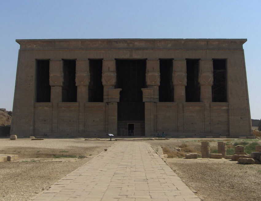 mdw-ntr.com - Dendera Temple Front View